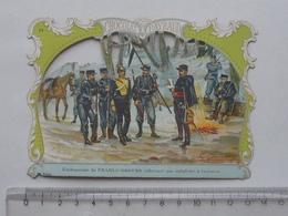CHROMO DECOUPIS Chocolat PAYRAUD Grand Format: Embuscade FRANCS-TIREURS - SOLDAT Guerre MILITAIRE - GERMAIN Illustrateur - Victorian Die-cuts