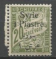 SYRIE TAXE N° 23  NEUF* CHARNIERE TB  / MH - Portomarken