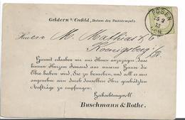 BRS092 / POSEN 1873, Mi.Nr. 17 Als Einzelfrankatur - Deutschland