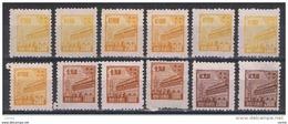 CINA  POPOLARE:  1951  LITOGRAFICI  -  12  VAL. N.G. -  YV/TELL. 158//162 - Nuovi