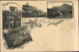 Cp Schönau Pfalz, Dorf Nothweiler, Ruine Hohenburg, Hotel Mischler, Fleckenstein, Wegelnburg - Allemagne