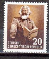 DDR 1953 Mi. 348 ** Marx Postfrisch (9486) - DDR