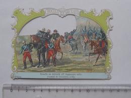 CHROMO DECOUPIS Chocolat PAYRAUD Grand Format: Bataille SEDAN (1870) Cavalerie à ILLY - MILITAIRE - GERMAIN Illustrateur - Découpis