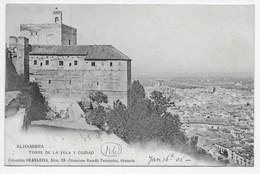 Granada - Torre De La Vela Y Ciudad - Dorso Sin Dividir - Granada