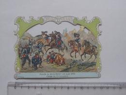 CHROMO DECOUPIS Chocolat PAYRAUD Grand Format: Bataille BEAUMONT (1870) 5e CUIRASSIER - MILITAIRE - GERMAIN Illustrateur - Découpis