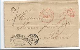 FP173 / FRANKREICH - Belagerung Vin Paris 1870-71. Ankunft In Calais 9.11.70. Ausgeliefert 1871 N. Ende Der Belagrung - 1849-1876: Période Classique