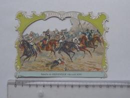 CHROMO DECOUPIS Chocolat PAYRAUD Grand Format: Bataille REZONVILLE (1870) - GUERRE MILITAIRE - GERMAIN Illustrateur - Découpis