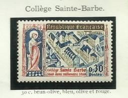 FRANCE - 1960 - COLLÈGE SAINTE-BARBE -  YT N° 1280 - TIMBRE NEUF** - Frankreich