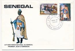 SENEGAL => FDC - Lat Dior, Héros National Du Sénégal - Dakar RP 11/01/1982 - Sénégal (1960-...)