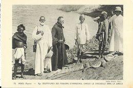 Indes (Mysora) - Mgr. Despatures Des Missions étrangères Chasse Le Crocodile Dans La Jungle - Carte N° 72 - Missionen