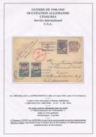 838/28 - SECOURS D' HIVER - Entier Postal Petit Sceau + TP Secours BRUXELLES 1941 Vers USA - Censure Allemande - Guerre 40-45