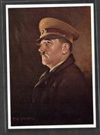 Col.  Ak  Hoffmann Nr. 448  Kanzler, Gemälde H. Lehmann, Linz, 12.03.1938 Am Rathausbalkon - Deutschland