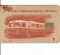 Slovakia - Slovaquie, Transport Chip Card Bratislava - Troley Transport,  Gebraucht-oblitérée - Moteurs