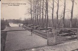 CPA ECUELLES CANAL DU LOING ECLUSE D' ECUELLES - Francia