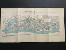 ANNALES PONTS Et CHAUSSEES (Allemagne) - Plan Du IXe Congrès De Navigation - Brème 1903 (CLA12) - Cartes Marines