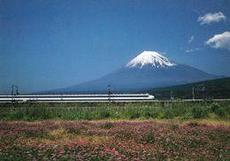 1 AK Japan * Ein Schnellzug Und Der Vulkan Fuji Zwischen Den Präfekturen Yamanashi Und Shizuoka * - Autres