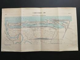 ANNALES PONTS Et CHAUSSEES (Allemagne) - Plan Du IXe Congrès De Navigation - Brème 1903 (CLA34) - Nautical Charts