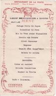 Ancien Menu De 1945 / Banquet Des Déportés Et Prisonniers / Arinthod  Restaurant De La Poste / Jura - Menú