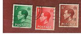 GRAN BRETAGNA (UNITED KINGDOM) -  SG 457.459  - 1936  KING EDWARD VIII    - USED° - Usati