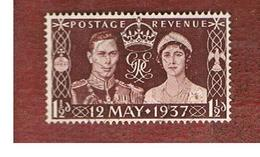 GRAN BRETAGNA (UNITED KINGDOM) -  SG 461  - 1937 CORONATION    - USED° - Usati