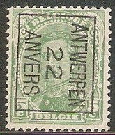 Antwerpen 1922 Typo Nr. 59BIII - Préoblitérés