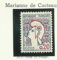 FRANCE - 1961 - MARIANNE DE COCTEAU TYPE II -  YT N° 1282a - TIMBRE NEUF** - Frankreich