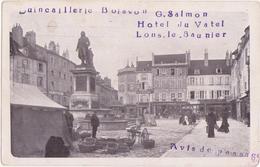 Carte/Avis De Passage Quincaillerie Boisson /Hotel Du Vattel / Lons Le Saunier / Jura - Lons Le Saunier