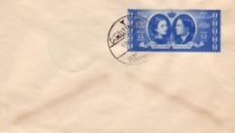 JORDANIE : 1955 - FDC - Mariage Du Roi Hussein - Jerusalem Citadel - Jordanie
