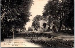 28 AUTHON DU PERCHE - La Gare, Ligne Nogent Le Rotrou à Orleans - Autres Communes
