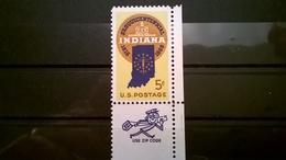 FRANCOBOLLI STAMPS U.S.A. UNITED STATES STATI UNITI 1966 MNH** NUOVI INDIANA STATEMOOD - Stati Uniti