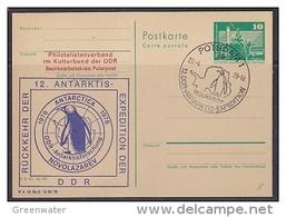 DDR 1978 Rückkehr Der 12. Antarktis Expedition Der DDR Postcard Ca Potsdam 20.4.78 (42334) - Postzegels