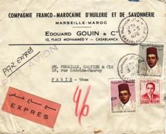 MAROC : 1970 -  Lettre Commerciale, Par Avion Et Par Exprès Pour Paris - Maroc (1956-...)