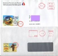 FRANCE ALGERIE : 1997 & 2004 - Anniversaires Fin De La Guerre - 2 Lettres - Algérie (1962-...)
