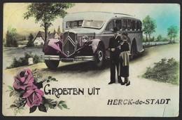 GROETEN UIT HERCK DE STADT * OUDE AUTOBUS CITROËN * ANCIEN AUTOBUS CITROEN - Herk-de-Stad
