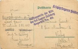 CPA PRISONNIER HEILSBERG - PRUSSE ORIENTALE - GEPRUFT  46 - POILU Du 414° RI -  Vers VICHY (ALLIER)  - AOUT 1918 - Franchise Militaire (timbres)