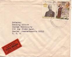 COLOMBIE : 1972 - Lettre Par Exprès (Special Delivery)  Pour Les USA (Boston University) - Colombie