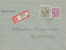 Allemagne Bizone Lettre Recommandée Münster 1946 - Zone Anglo-Américaine