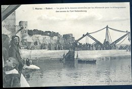 Cpa Du Maroc Rabat Grue De Douane Construite Par Allemands Pour Débarquement Canons Fort Rottembourg  MA3 - Rabat