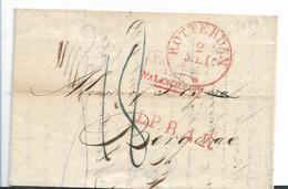 NLC043 / NIEDERLANDE - Rotterdam 1829 Via Valencienes Nach Frankreich - ...-1852 Vorläufer