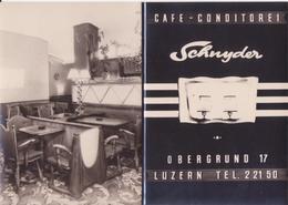 Carton Publicitaire Format Carte Postale / Café Schnyder / Luzern / Lucerne / Suisse - LU Lucerne