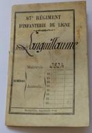 Livret Militaire Guerre Franco Prussienne 1870-1871 - Soldat Campagne De Rome (médaille De Mentana)  Siège De Strasbourg - Documenti
