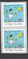 Deutschland BRD ** 3444 Grimms Märchen Skl Senkrechtes Paar Eine Marke Mit Nummer - Ungebraucht