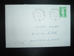 LETTRE TP M.DE BRIAT 2,40 OBL.7-1 1994 S.C.E. PARIS A BALE  G (AMBULANT) - 1997-04 Marianne Of July 14th