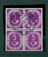 Bund, Posthornsatz Nr. 125 Gestempelt, Viererblock - Used Stamps