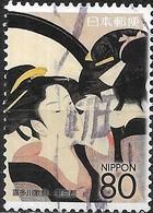 JAPAN (TOKYO PREFECTURE) 2007 Ukiyoe Festival 2007 - 80y - Sugatami Shichinin Kesho (Kitagawa Utamaro) FU - 1989-... Empereur Akihito (Ere Heisei)