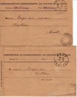 FRANCE : 1919 - Lot 2 Port Payé Imprimés D'Agde - Marcophilie (Lettres)