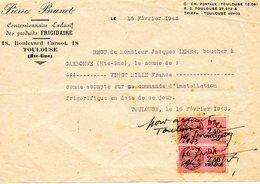 B001 - 1943 FRIGIDAIRE BRUNET Toulouse Boulevard Carnot - Leher Bouchet Carbonne - Autres