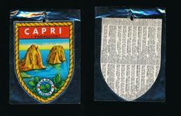 ECUSSON ADHESIF ESCUDOS ADHESIVOS  Neuf  ITALIE  ITALIA CAPRI - Obj. 'Souvenir De'