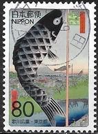 JAPAN (TOKYO PREFECTURE) 2007 Ukiyoe Festival 2007 - 80y - Suidobashi Surugadai (100 Famous Views Of Edo) FU - 1989-... Empereur Akihito (Ere Heisei)