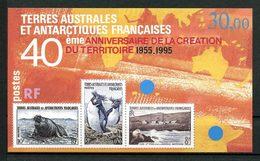 TAAF 1995 Bloc N° 2 **  Neuf MNH Superbe C 14,50 € Faune Oiseaux Birds Manchots Otarie Timbres Sur Timbres Animaux - Blokken & Velletjes